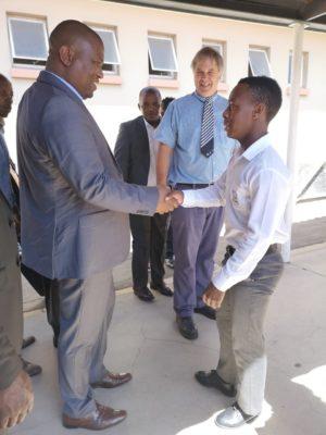 Premier Lubabalo Oscar Mabuyane visiting Westview