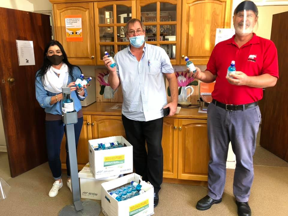AfriForum donated hand sanitizers